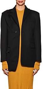 Maison Margiela Women's Cutout-Detailed Wool One-Button Blazer-Black