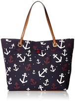 Tommy Hilfiger Th Grommet Falling Anchors Tote