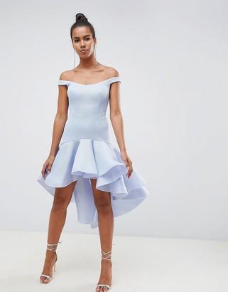 Asos DESIGN Premium Sculptured Ruffle Midi Prom Dress