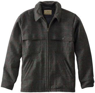 L.L. Bean Men's Maine Guide Zip-Front Jac-Shirt with PrimaLoft, Plaid