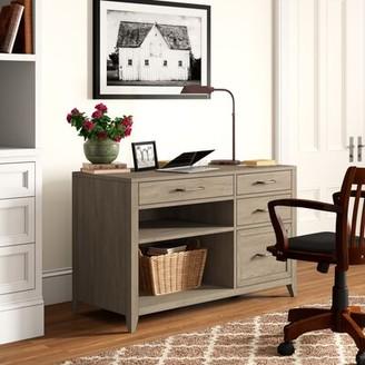 Three Posts Northampton Credenza Desk Color: Gray Wash