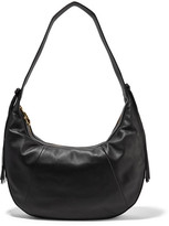 Elizabeth and James Zoe Large Tasseled Leather Shoulder Bag - Black