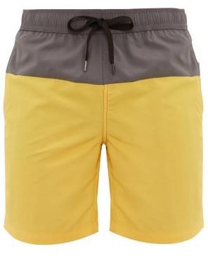 Onia Charles Colour-block Shell Swim Shorts - Mens - Grey Multi