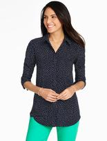 Talbots Long Crepe Shirt-Dancing Dots