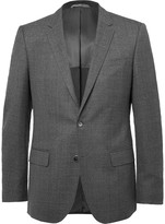 HUGO BOSS Grey Slim-Fit Virgin Wool Blazer
