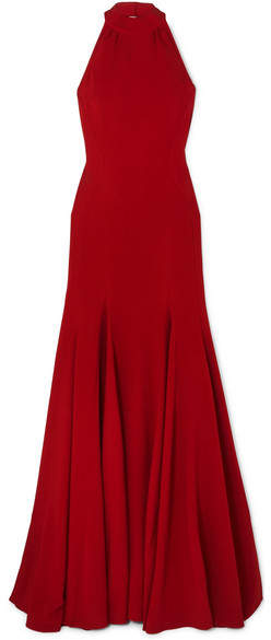Stella McCartney Stretch-crepe Halterneck Gown - Red