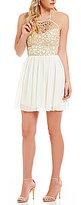 B. Darlin High-Neck Chain Top A-line Dress