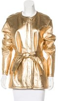 Barbara Bui Leather Metallic Jacket