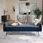 Novogratz Stevie Tufted Back Convertible Sofa Novogratz Color: Blue