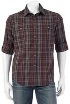 Apt. 9 Men's Modern-Fit Plaid Roll-Tab Button-Down Shirt