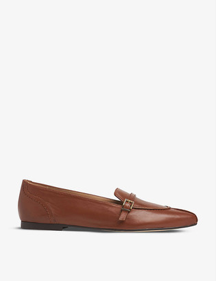 LK Bennett Polliana buckle-detail nappa leather loafers