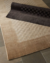 Horchow Checkered Rug, 5' x 8'