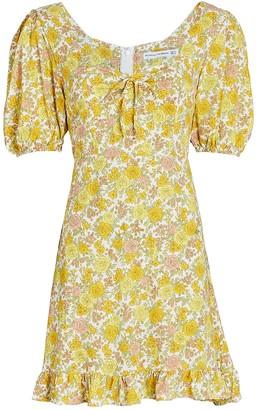 Faithfull The Brand Agathe Floral Mini Dress
