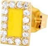 Alison Lou Yellow Enamel And Diamond Stud