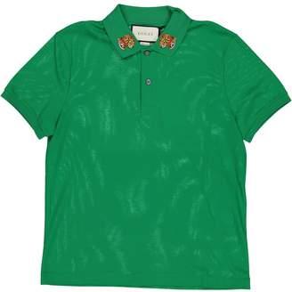 Gucci Green Cotton Polo shirts