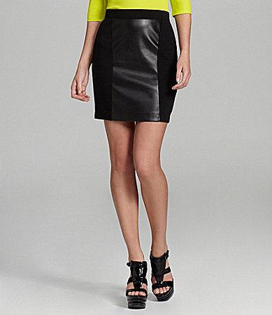 Gianni Bini Sean Faux-Leather Pencil Skirt