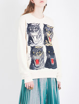 Gucci Tiger-printed cotton-jersey sweatshirt