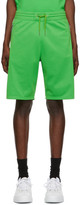 Givenchy Green Logo Tape Shorts