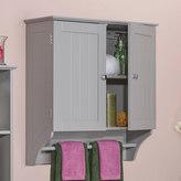 RiverRidge Ashland Gray Two Door Wall Cabinet