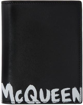 Alexander McQueen Black Graffiti Pocket Organizer