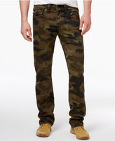 True Religion Men's Ricky Camo Straight-Fit Pants
