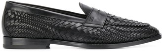Etro Woven Leather Loafers