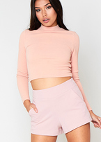 Missy Empire Talulah Pink High Waisted Shorts
