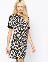 Oasis Leopard Print Shift Dress