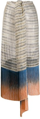Emilio Pucci Fringed Striped Skirt