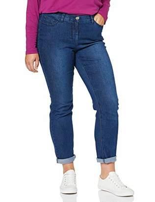 Ulla Popken Women's 41.910.82.25 Slim Jeans,56W / L