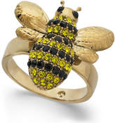 Kate Spade 14k Gold-Plated Crystal Bee Ring