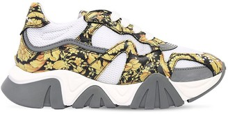 Versace Baroque Print Lace-Up Sneakers