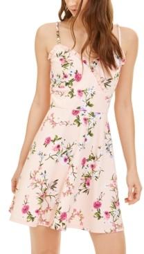 Trixxi Juniors' Floral A-Line Dress