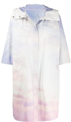 Yves Salomon Sky Print Raincoat