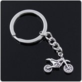 Nobrand No brand fashion men 30mm keychain DIY metal holder chain vintage motorcycle motorcross 1723mm antique silver pendant