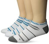 Reebok Men's 3 Pack Mesh and Stripes Performance Low Cut Socks