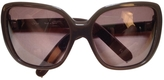 Chloé Khaki Plastic Sunglasses