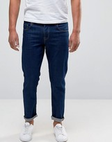 Asos Stretch Slim Ankle Grazer Jeans In 12.5oz True Blue
