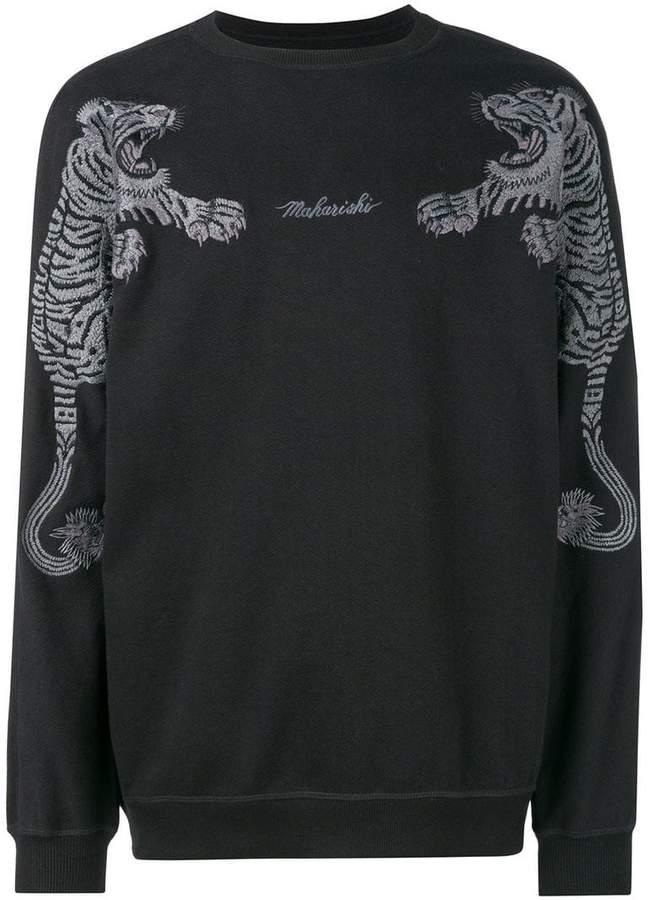 MHI logo tiger embroidered sweatshirt