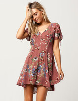 Blu Pepper Floral Button Front Dress