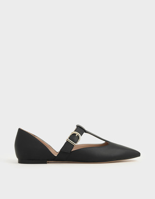 Charles & Keith T-Bar Buckle Flats
