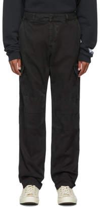 Reese Cooper Black Cotton Twill Cargo Pants
