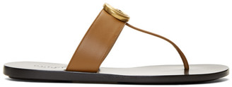 Gucci Brown GG Marmont Sandals