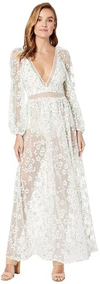 For Love & Lemons Eclair Maxi Dress (Ivory Floral) Women's Clothing
