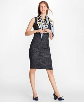 Brooks Brothers Plaid Tweed Sheath Dress
