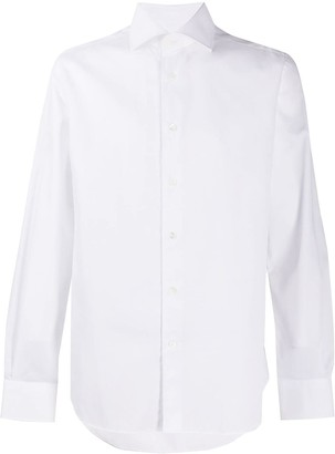 Corneliani Spread-Collar Long-Sleeve Shirt