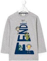 Fendi cartoon print T-shirt - kids - Cotton - 3 yrs