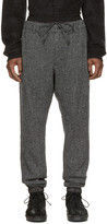 Sacai Black & White Wool Lounge Pants