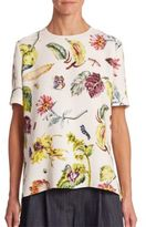 ADAM by Adam Lippes Floral-Print Top