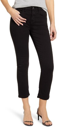 JEN7 by 7 For All Mankind High Waist Ankle Slim Straight Leg Jeans